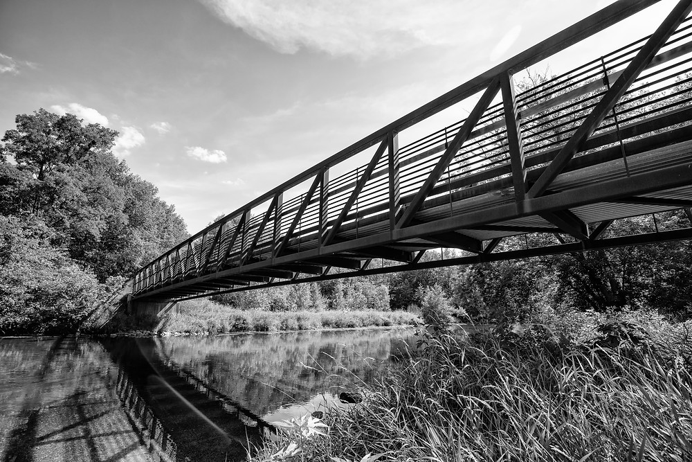 bridge at Knoch Knolls Park in Naperville, IL