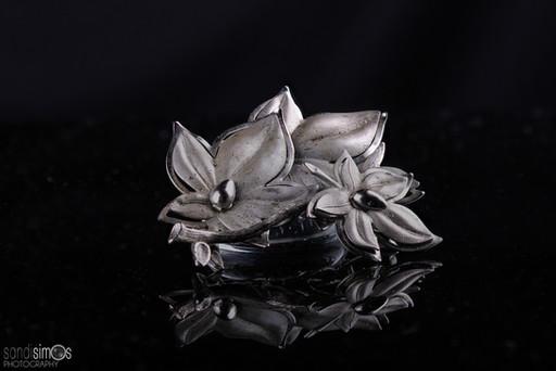 Heirloom photo - silver jewelry broach/pin