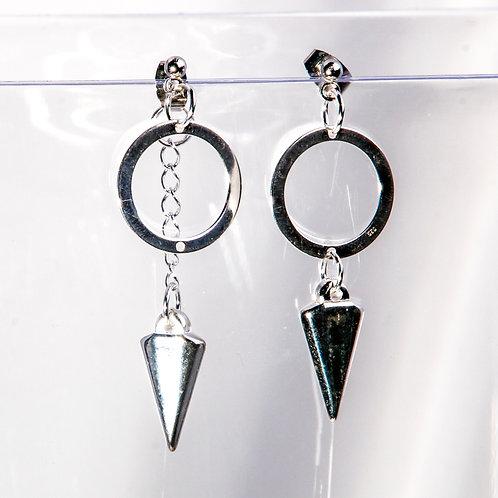 Asymmetric Spike Earrings