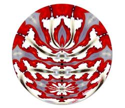 Piatto piano orizzontale bianco_rosso