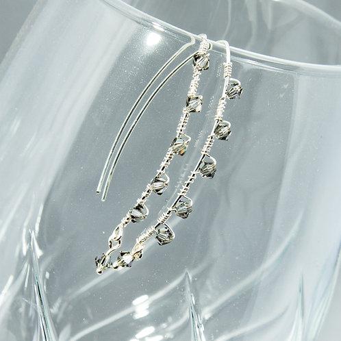 Black Diamond Swarovski Earrings