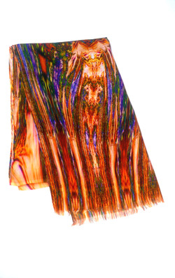 Stola in lana e viscosa