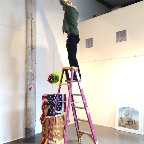 Installation in The Lace Mill's West Gallery