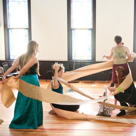 FEMINIST ART GROUP AT OLD GLENFORD CHURCH STUDIO - GLENFORD, NY