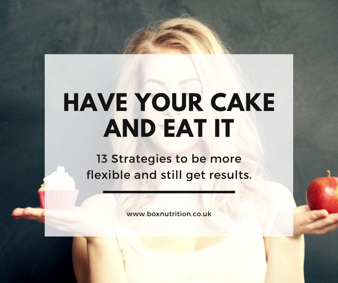 Have your cake and eat it - strategies to help be more flexible with your diet and still  get result