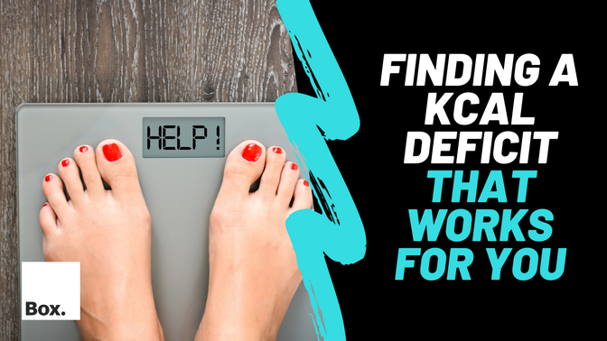 Finding a kcal deficit that works for you.