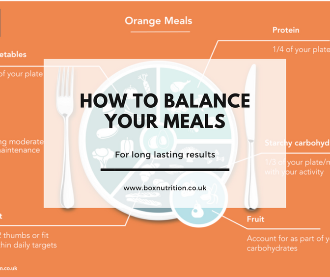 How To Balance Your Meals for Long Lasting Results
