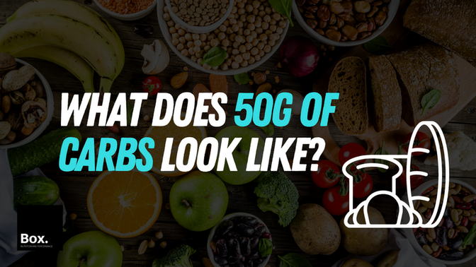 What does 50g of carbs look like?