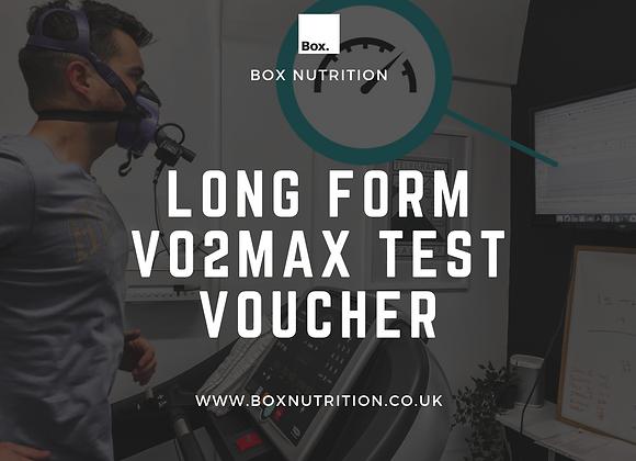 Long form V02Max Testing Voucher