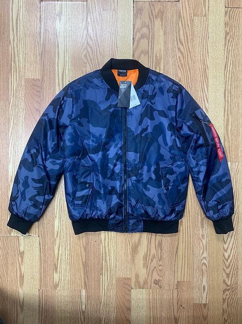 Flight Jacket (Blue Camouflage)