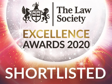 Shortlisted for the Law Society Excellence in Client Service Award!