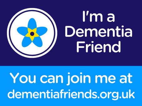 Proud to be a Dementia Friend