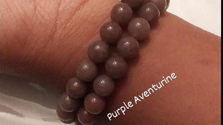 Purple Aventurine Bracelet 8mm