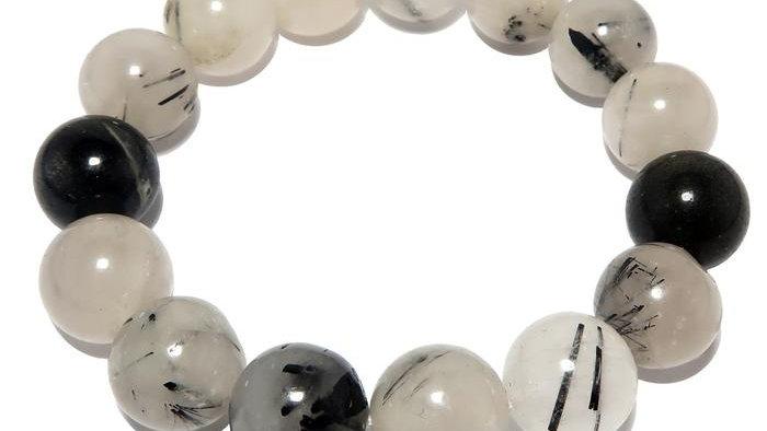 Tourmalinated Quartz Bracelet