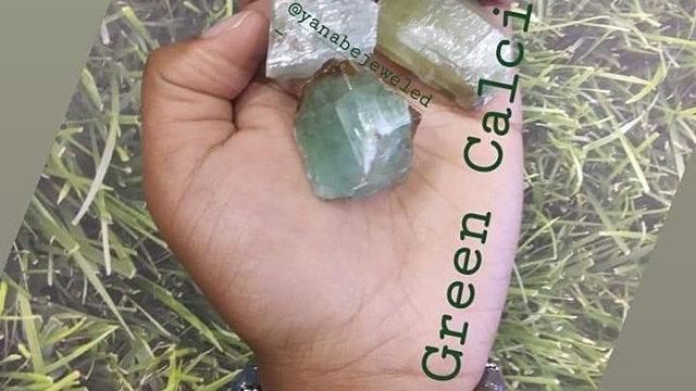 Rough Green Calcite Stone