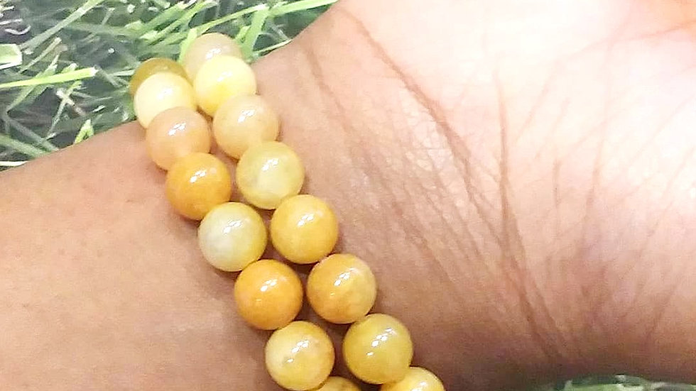 Yellow Jade 8 mm Bracelet