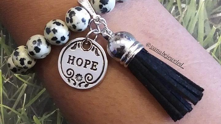 "Dalmatian ""Hope"" 8 mm Charm Bracelet"