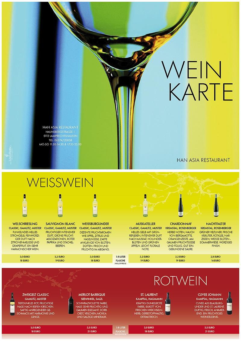 Weinkarte Han
