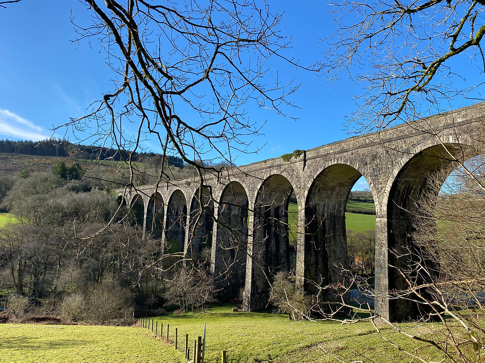 Shillamill Viaduct along the Tavistock Canal walking route.
