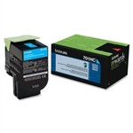 Lexmark 701HC Cyan High Yield Toner Cartridge