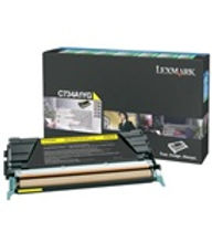 Lexmark C73X and X73X Yellow Toner Cartridge   6,000 page yield