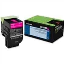 Lexmark 801HM Magenta High Yield Toner Cartridge (3,000 pg. yld.)