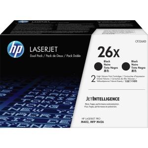 HP 26X Dual Pack High Yield Black Original LaserJet Toner Cartridge