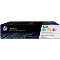 HP 126A 3 pack Cyan/Magenta/Yellow Original LaserJet Toner Cartridges