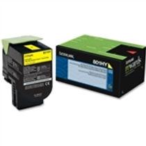 Lexmark 801HY Yellow High Yield Toner Cartridge (3,000 pg. yld.)
