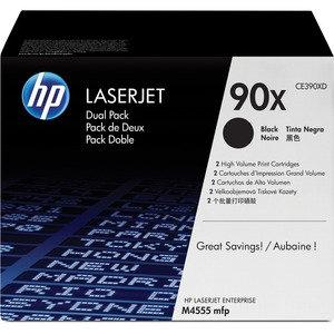 HP 90X Dual Pack High Yield Black Original LaserJet Toner Cartridges