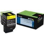 Lexmark 801Y Yellow Toner Cartridge (1,000 pg. yld.)