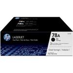 HP 78A 2 pack Black Original LaserJet Toner Cartridges