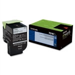Lexmark 701K Black  Toner Cartridge (1,000 pg. yld.)
