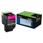 Lexmark 801M Magenta Toner Cartridge (1,000 pg. yld.)