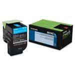 Lexmark 801XC Cyan Extra High Yield Toner Cartridge (4,000 pg. yld.)