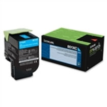 Lexmark 801XC Cyan Extra High Yield Toner Cartridge (4,000 pg. yld.)