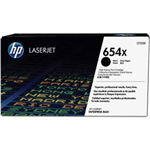 HP 654X Black Toner Cartridge   19500 Pages