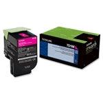 Lexmark 701M Magenta Toner Cartridge (1,000 pg. yld.)