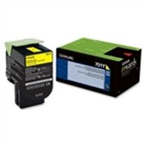 Lexmark 701Y Yellow Toner Cartridge (1,000 pg. yld.)