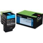 Lexmark 801HC Cyan High Yield Toner Cartridge (3,000 pg. yld.)
