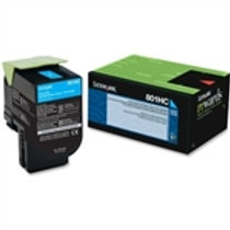 Lexmark 801HC Cyan High Yield Toner Cartridge (3,000 pg. yld.)