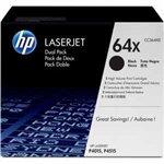 HP 64X 2 pack High Yield Black Original LaserJet Toner Cartridges