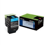 Lexmark 801SC Cyan Standard Yield Toner Cartridge (2,000 pg. yield)