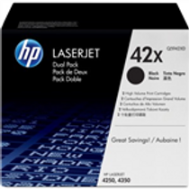 HP 42X 2 pack High Yield Black Original LaserJet Toner Cartridges