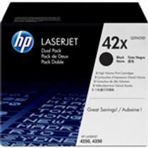 HP 42X 2 pack High Yield Black Original LaserJet Toner Cartridges