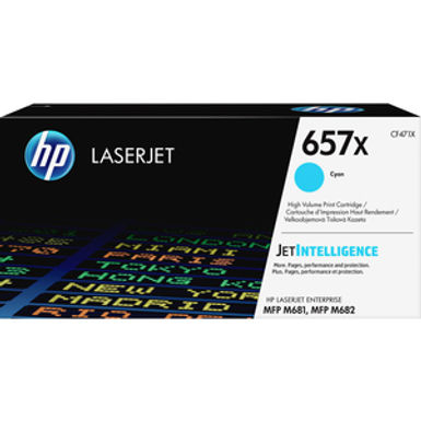 HP 657X Cyan HY Toner Cartridge
