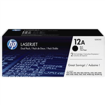 HP LaserJet 1010/12/20/22 &3015/20/30 Black Print Cartridge (2 Pack)