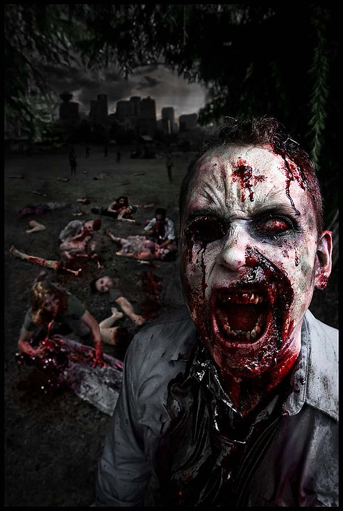 Picnic In The Park - Horror Art by Anathema Photography