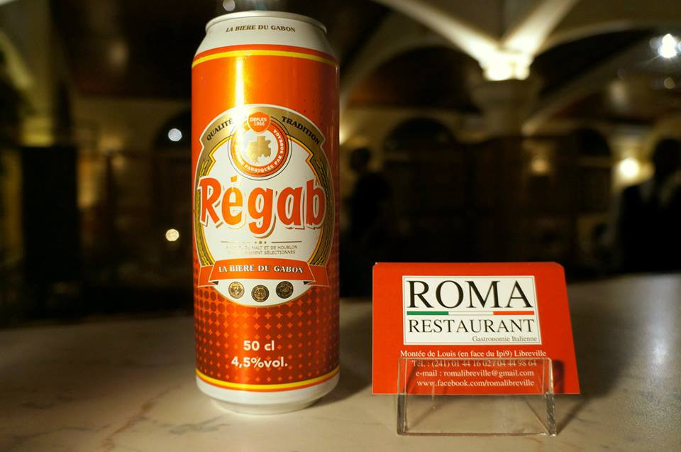 Biere, Regab, Roma Restaurant, Libreville - Gabon