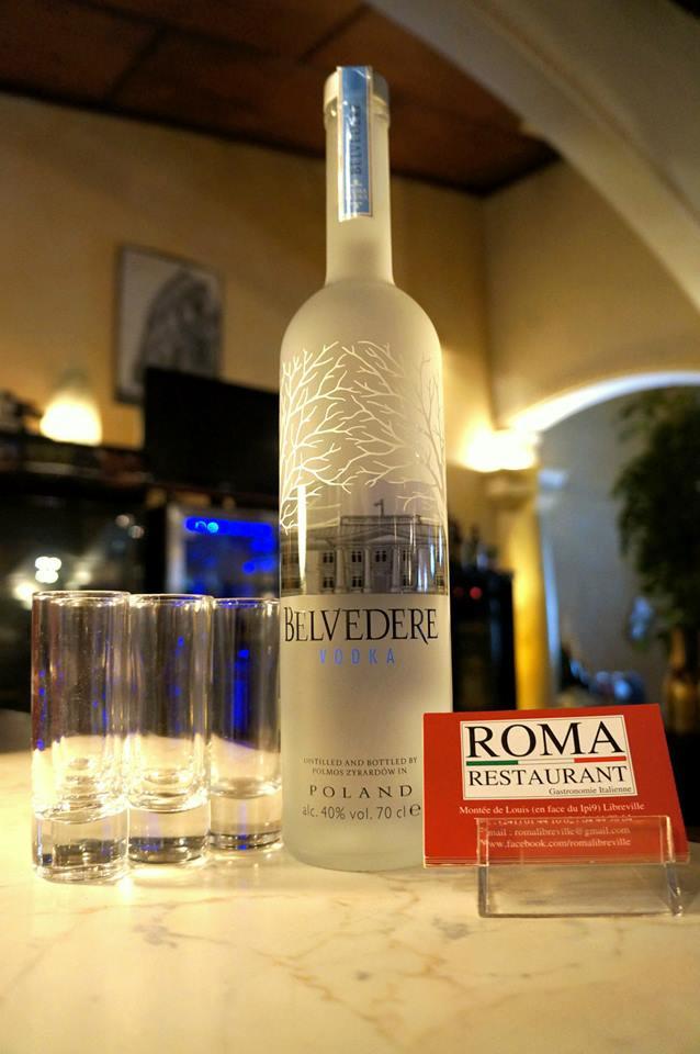 Vodka, Belvedere, Bar, Roma Restaurant, Libreville - Gabon